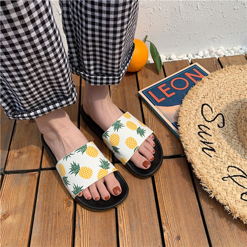 Best Deal▒Women Shoes Sandals Flip-Flops Pineapple-Fruit-Slippers Sliders Cute Students Indoor