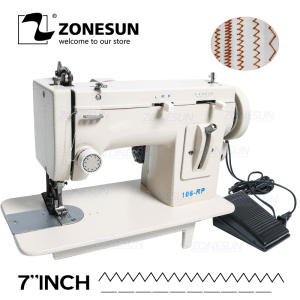 Fell-Clothes Sewing-Tool Zag-Stitch Thick 106-RP ZONESUN Fabric-Material Fur Household
