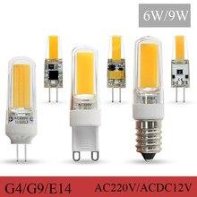 5Pcs Laagste Prijs G4 G9 Led Lamp E14 Cob Licht DC12V AC220V Led Lampada Voor Home Verlichting Kroonluchter lamp