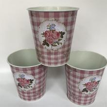 10 pièces/lot D12.5xH14CM métal Vase fer planteur boîtes en fer blanc centres de table décor à la maison