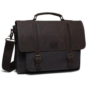 Torba dla mężczyzn Vintage wodoodporna teczka woskowana płócienna torba na ramię dla 15.6 Cal torba na laptopa dla kobiet mężczyzn