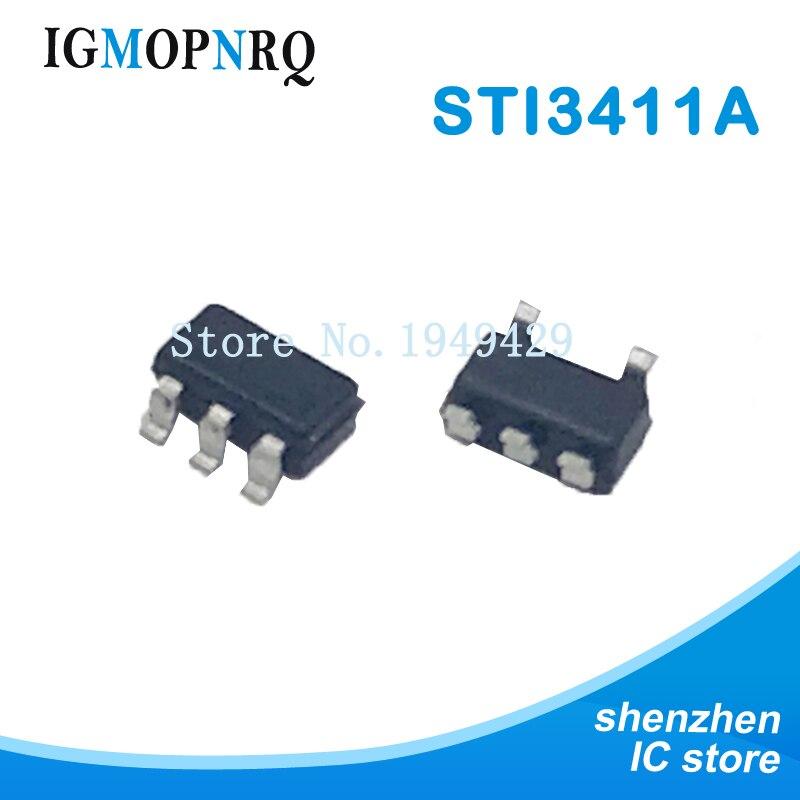 50pcs STI3411A S15B ** SOT23-6 Step-down DC / DC Chip