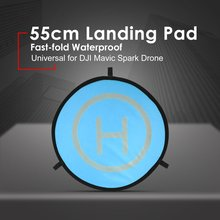 55cm Fast-fold Landing Pad Universal FPV Drone Parking Apron Foldable Pad For DJI Spark Mavic Pro FPV Racing Drone RC Parts Accs pgytech safety carrying case for dji spark camera drone accessories waterproof hard eva foam equipment carrying fpv rc parts