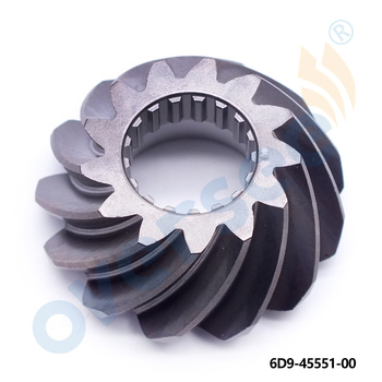 6D9-45551 Pinion For YAMAHA Outboard Motor Parts F75-F100HP 13T 6D9-45551-00 67F-45551-00 6D9-45551