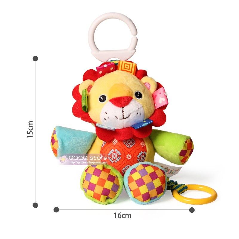 Купить с кэшбэком Baby Soft Toys Musical Plush Stuffed Animals Educational Toys For Children Stroller Crib Hanging Infant Comfort Doll Gift Cute