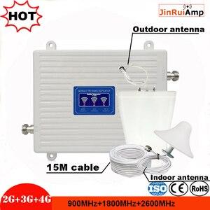 Image 1 - Трехдиапазонный ретранслятор сигнала 2G 3G 4G GSM 900 + DCSLTE 1800 + FDD LTE 2600, усилитель сигнала мобильного телефона, усилитель сотовой связи