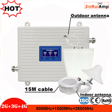 2G 3G 4G Triple Band Signal repeater GSM 900+DCSLTE 1800+FDD LTE 2600 Mobile Phone Signal booster Cellular Amplifier