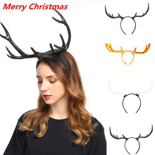 Christmas Hairband Cute Ears Light-up Horns Dalmatian Bull New Year Elk Antler For Party Wedding Decor#