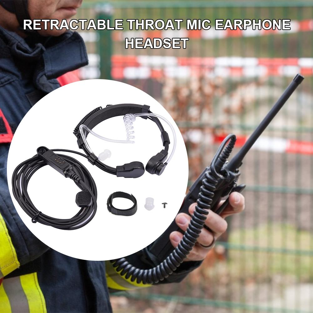 Retractable Throat Mic Earphone Headset For For Baofeng UV-9R BF-9700 BF-A58 GT-3WP R760 UV-82WP Walkie Talkie