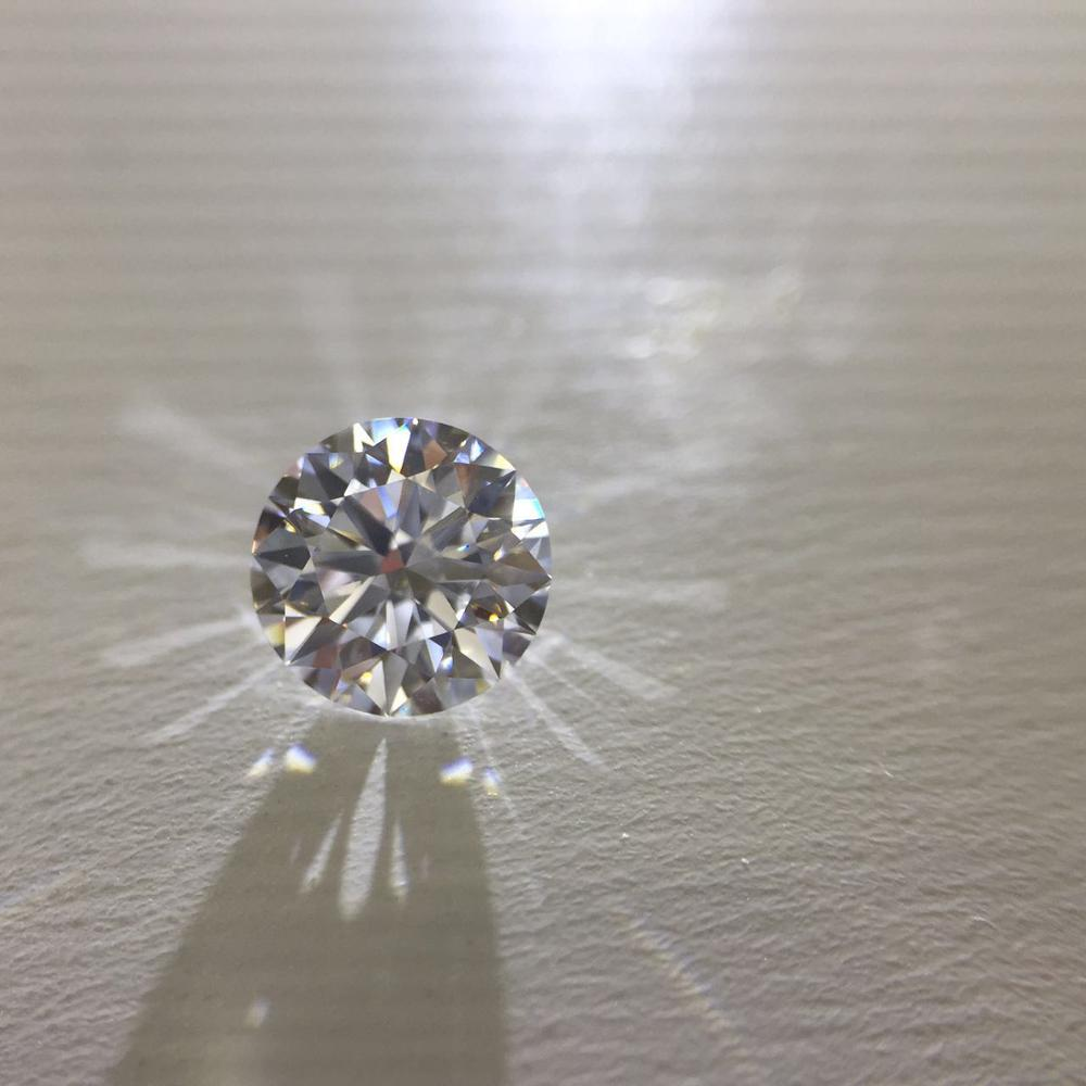 0.5ct 5mm D Color Round Brilliant Cut Loose Moissanite VVS1 Grade Excellent Cut Jewelry Loose Stone High Quality Ring Material