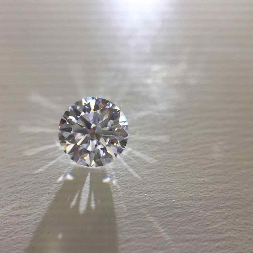 0.5ct 5mm D צבע עגול מבריק loose Moissanite VVS1 כיתה מעולה לחתוך תכשיטי Loose אבן באיכות גבוהה טבעת חומר