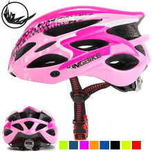 цена на KINGBIKE Cycling Helmet Pink Woman Road Bicycle Helmet Ultralight Mountain Bike Helmet Eps MTB Cycling Helmet Light Protone Kask