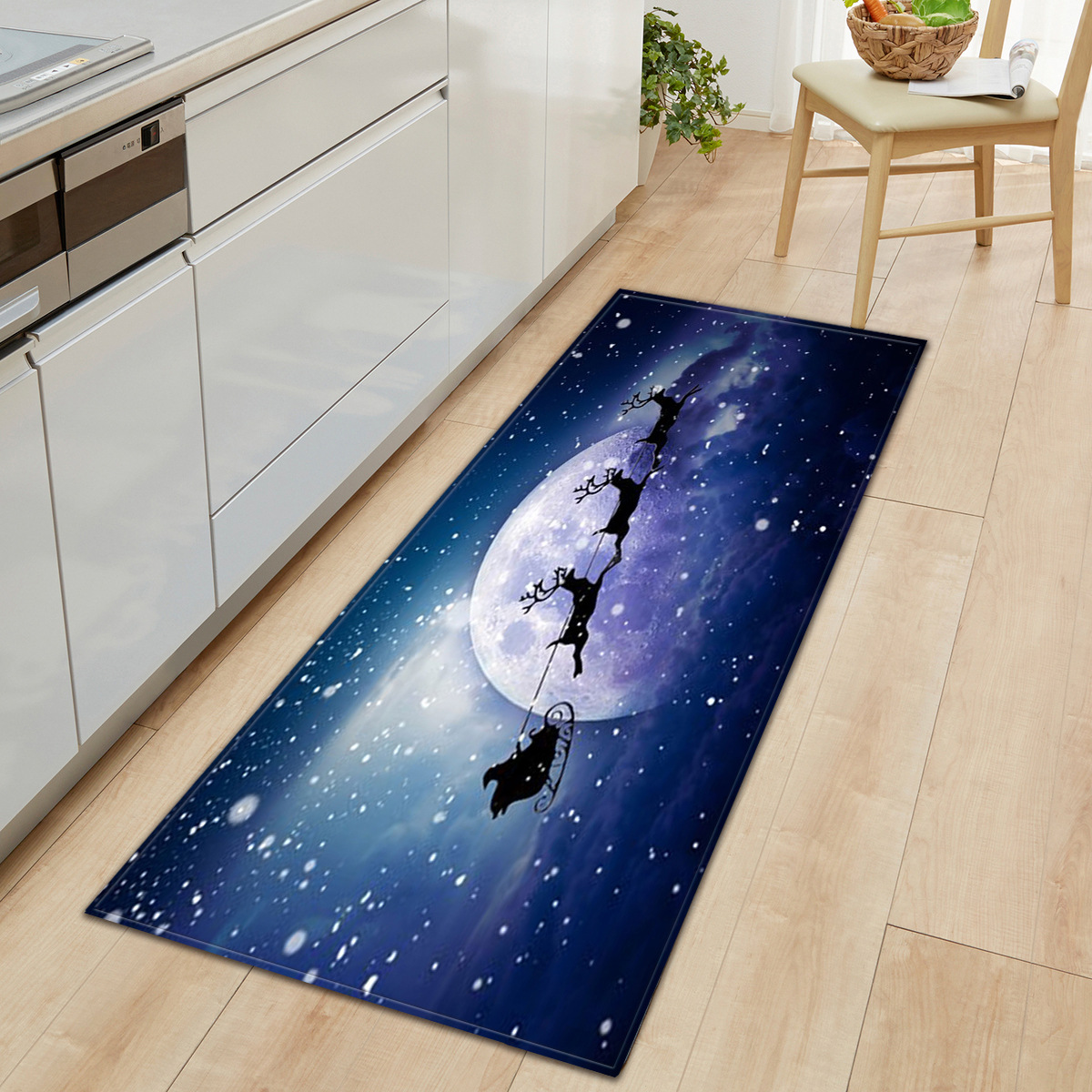 Picture of: 3 D Christmas Kitchen Area Rug Soft Flannel Floor Mat For Home Bedroom Living Room Non Slip Xmas Rug Bath Mats Aliexpress