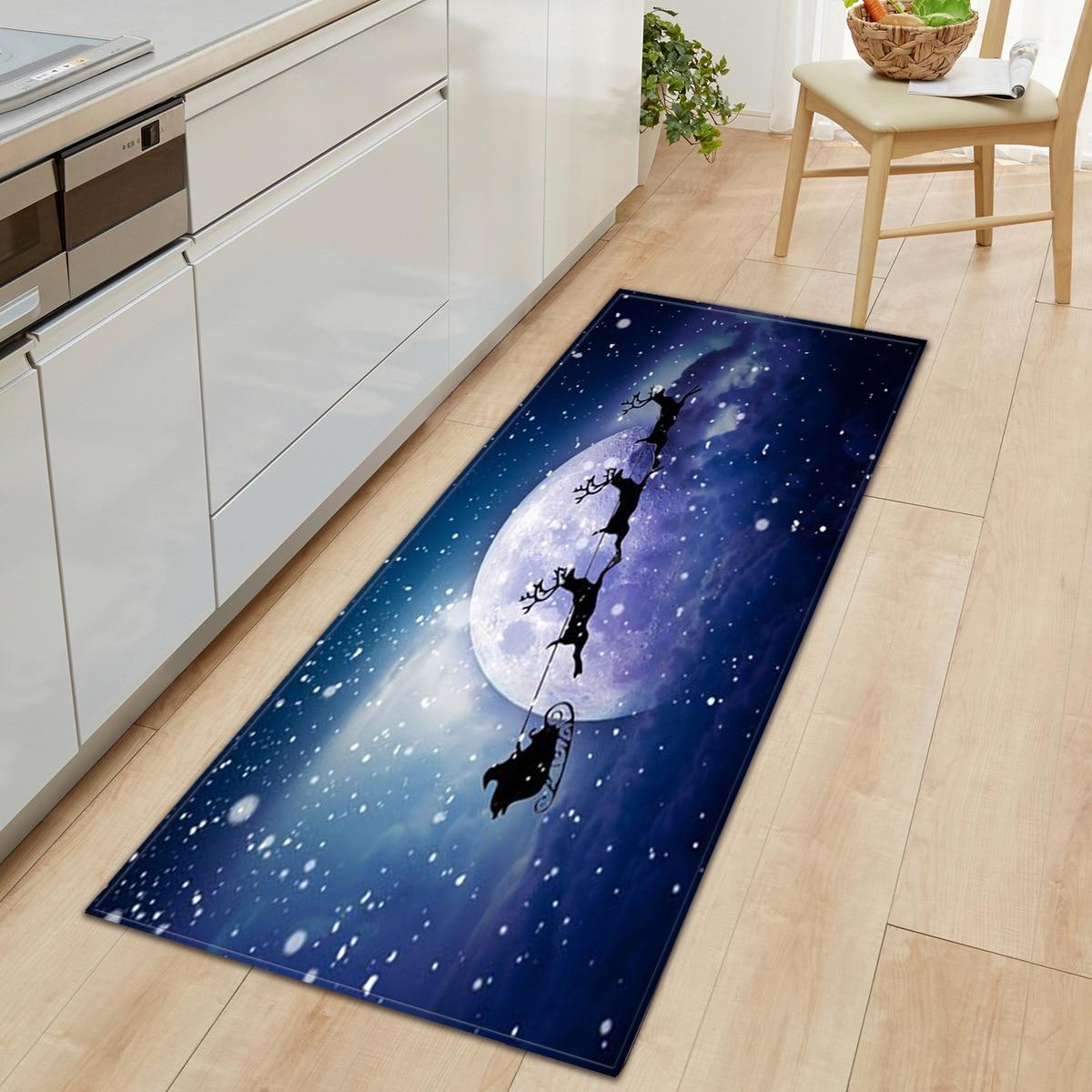 3 D Christmas Kitchen Area Rug Soft Flannel Floor Mat For Home Bedroom Living Room Non Slip Xmas Rug Bath Mats Aliexpress