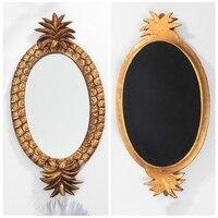Pineapple Design Retro Resin Decorative Tray Storage Tray Jewelry Cosmetics Home Decoration Retro Pineapple Mirror Tray