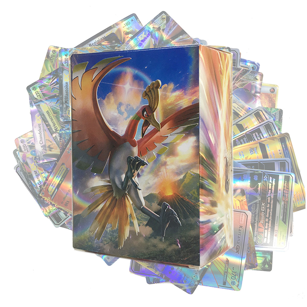 Takara Tomy Pokemon Card 100PCS GX EX  Flash 3D Version Sword And Shield Sun Moon Collectible Christmas Gifts Children Toy