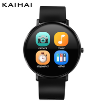 KAIHAI Smart Watch Tempered glass Heart rate monitor Smartwatch Music stopwatch Touch Screen for Android Phone IP67 Waterproof