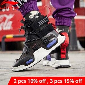 Image 1 - Li ning Zapatillas deportivas de baloncesto para hombre y mujer, zapatos deportivos de estilo informal, con forro de corte alto, para Fitness, Unisex, NYFW REBURN, AGBP038 XYL232
