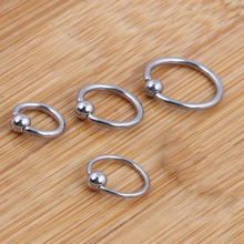 Fashion Bead Ear Nose Ring Hoop Tragus Cartilalge Nose Piercing Nipple Ring Metal Round Fake Septum Body Jewelry High Quality(China)
