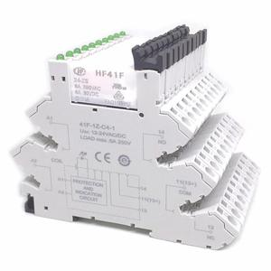 Image 4 - 5pcs HF41F 24 ZS 12 ZS 5V 12V 24V 6A 1CO Slim Relay Mount On Screw Socket with LED and Protection Circuit 24VDC/AC Wafer relay
