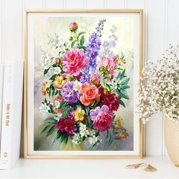 HUACAN 5D DIY Diamond Painting Flower Diamond Embroidery Roses Full Drill Square Picture Of Rhinestone