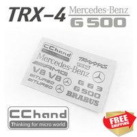 RC Teile TRX 4 Benz G500 traxxas Metall Auto Aufkleber schmücken-in Teile & Zubehör aus Spielzeug und Hobbys bei