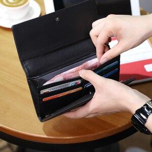 Image 3 - Tigernu מזדמן גבר ארוך ארנק זכר מטבע רב כיסי כסף DollarCard מחזיק ארנקי גברים אופנה סגנון ארנק כרטיס מחזיק