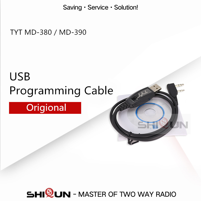 Original TYT USB Programming Cable For TYT DMR Digital Walkie Talkie MD-380 MD-390 MD-UV380 MD-UV390 NKTECH MD-380U MD-380V 380G