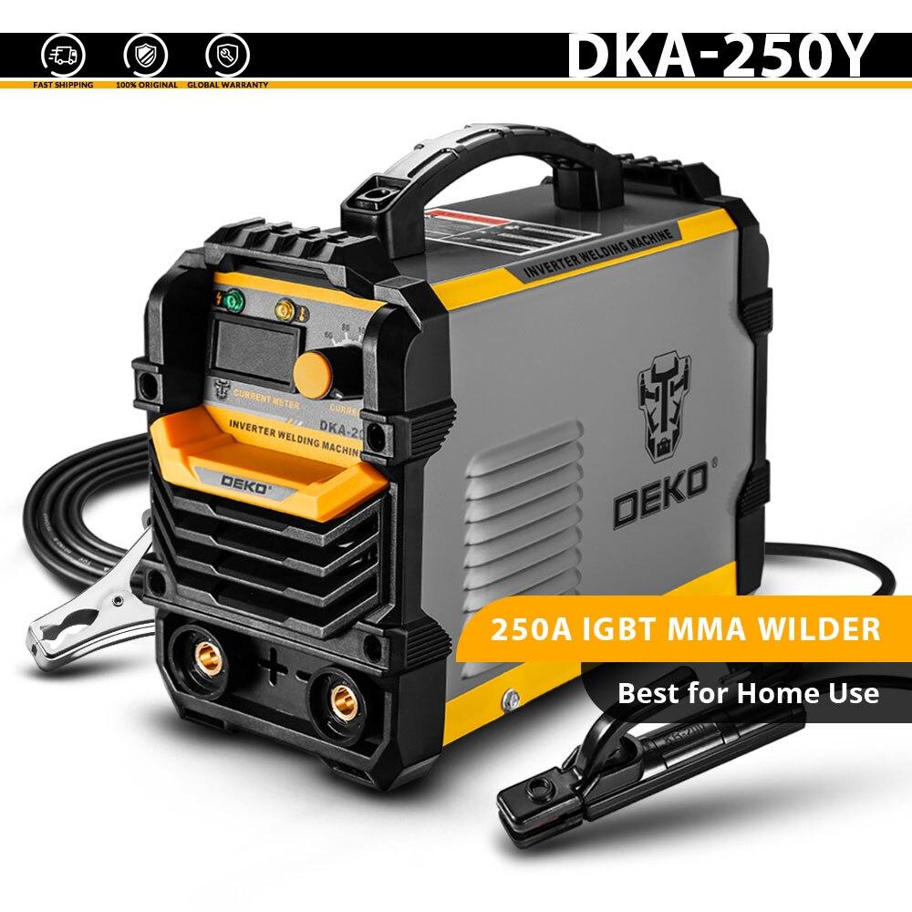 DEKO DKA-200Y 200A 4.1KVA инвертор дуговой Электрический сварочный аппарат 220V MMA сварочный аппарат для DIY сварочных работ и электрических работ - Цвет: DKA-250Y