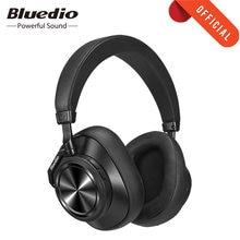 Bluedio T7 artı kulaklık aktif gürültü iptal akıllı Bluetooth 5.0 kulaklık kafa AI yüz tanıma kablosuz kulaklık t7 +