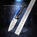 LUOKESI نمط جديد AD15 سكين للفرد D2 شفرة G10 مقبض ألمونيوم في الهواء الطلق التخييم الصيد الصيد بقاء تكتيكات السكاكين الجيب