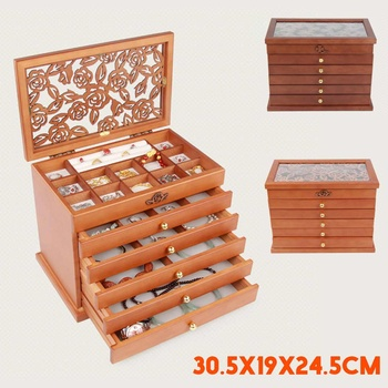 Wooden Jewelry Box Jewelry Display