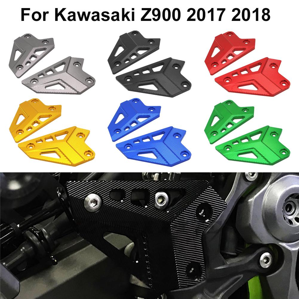 Heel Guard For Kawasaki Z900 2017 2018 2019 Xitomer Z900 Motorcycle Footrest Rearset Heel Protector Black