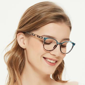 ZENOTTIC blokujące niebieskie światło ramki okularów mężczyźni kobiety Retro okrągłe krótkowzroczność oprawki do okularów gogle okulary korekcyjne ramki tanie i dobre opinie CN (pochodzenie) Cr-39 Unisex 320003B 48mm 1 89inch 43mm 1 7 inch Octan BLACK PINK YELLOW Presbyopia Myopia Prescription Eyewear
