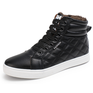 Image 2 - VESONAL 2019 Winter Fashion Leather High Top Sneakers Men Shoes With Fur Plush Warm Casual classic Comfortable Male Footwear