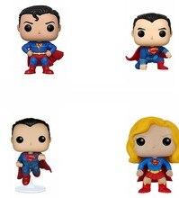 Superheroes superman figuras de ação de vinil pvc coleção figura brinquedos para presentes de aniversário