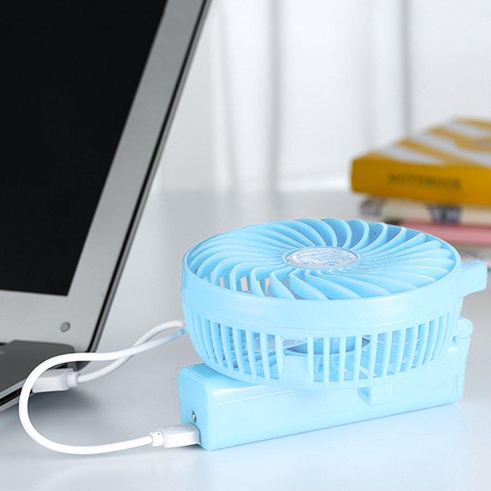 USB Rechargeable Handheld Fan Mini Adjustable Fan Hand Bar Desktop Fan
