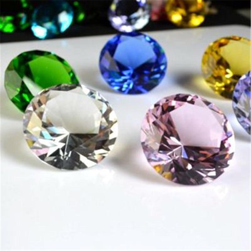 60mm Clear Crystal Glass Cut Giant Diamond Jewel Paperweight Wedding Decoration