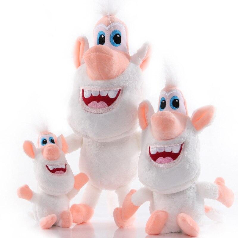 Anime novo dos desenhos animados booba buba pouco branco porco fantoche brinquedos de pelúcia kawaii macio bonecas crianças presente|Stuffed & Plush Animais|   -