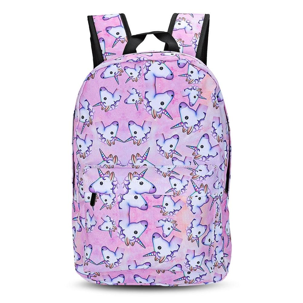 HaoYun Fashion Childrens Backpack 3D Unicorn Horse Pattern Teenagers Travelling Bag Cartoon Design Kids School Bags
