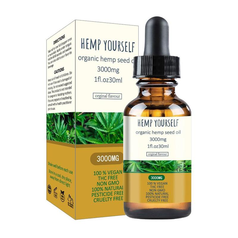 30ml Hemp Oil 3000mg Bio-active Hemp Seed Herb Drops Pain Relief Reduce Anxiety Better Sleep Massage Oil Organic Essential Oils image