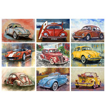 Full Square Drill 5D DIY Diamond Painting Cartoon Car Art Kit Living Room Home Decoration Round Embroidery Picture