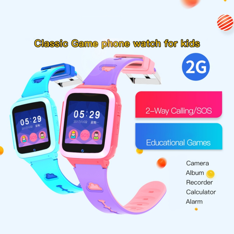 DS71 Kids Smart Watch Music Game Waterproof Touch Screen Children Wrist Watch Smartwatch Tracker Girls Boys Birthday Gifts