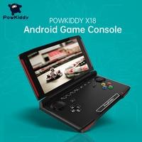 Powkiddy-consola de juegos portátil X18, Android, pantalla de 5,5 pulgadas, 1280x720, MTK 8163, cuatro núcleos, 2 GB de RAM, 32 GB de ROM, Mando de juegos de vídeo