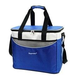 Сумка-холодильник 36Л, высокое качество, большая сумка-холодильник для пикника, 3 вида цветов, теплоизоляционная упаковка