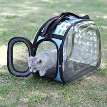 Pet Cat Carrier Bag Breathable Puppy Box Cage Small Dog Travel Handbag Space Capsule