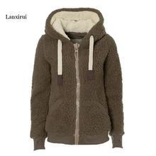 Winter Sweatshirts Women Warm Flannel Casual Hoodie