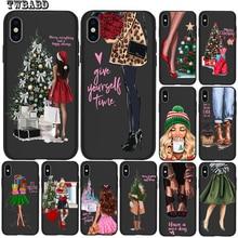 Для iphone 11 Pro Max Рождественская Елка роскошный модный чехол для девушек для iphone 8 7 X XS Max XR 6 7 8 Plus 5s SE чехол Etui
