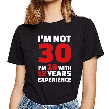 Tops camiseta femenina corta blanca Vogue 30 cumpleaños Mujer
