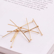 100pcs gold-plated copper plating color retention pin connector pin t hand diy accessories fitting a metal material beads